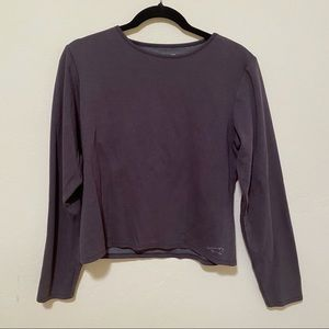 HORNY TOAD Size Large Gray Long Sleeve Top
